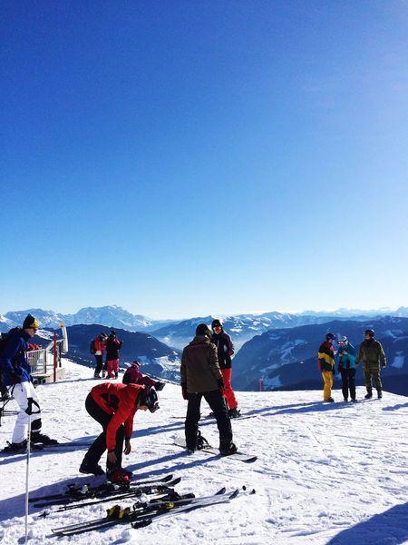 February 23th 2015 Saalbach Hinterglemm Snow Skiing