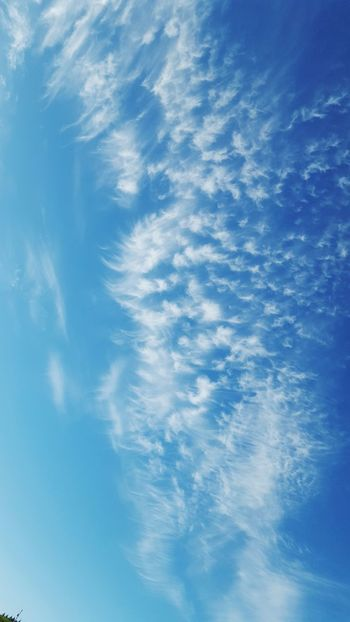 My sky view Blue Sky Bluesky Blue Sky And Clouds Over My Head Morning Beauty In Nature Backgrounds Full Frame Sky Close-up Cloud - Sky Sky Only