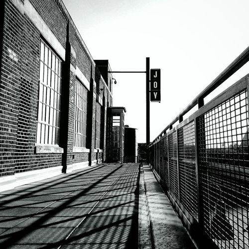 The Way Forward Sunlight Outdoors Railing Clear Sky Joy Rule Yourself Shadows & Lights Under Armour Jomo Lines And Angles Patterns Solo Journey Building Facades Detail EyeEmNewHere