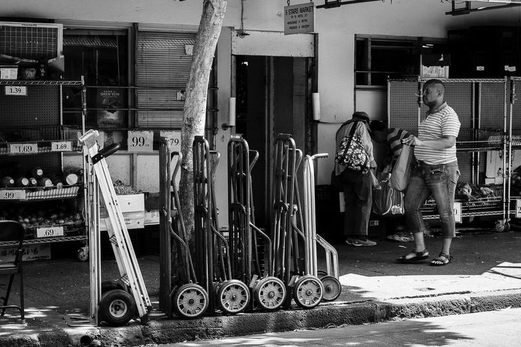 Stack of carts Streetphotography Blackandwhite First Eyeem Photo