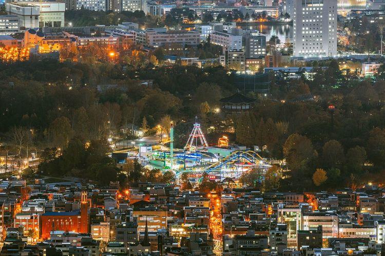 Seoul Korea City Night Landscape Night View Nightscape Cityscape