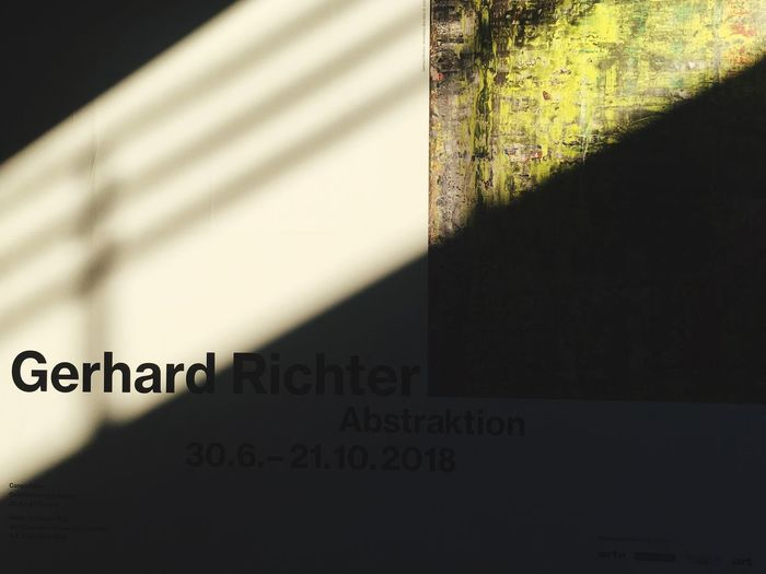 LINE Show Gerhard Richter Text Communication Western Script No People Wall - Building Feature Architecture Built Structure Shadow Sign Information Low Angle View Wall Sunlight