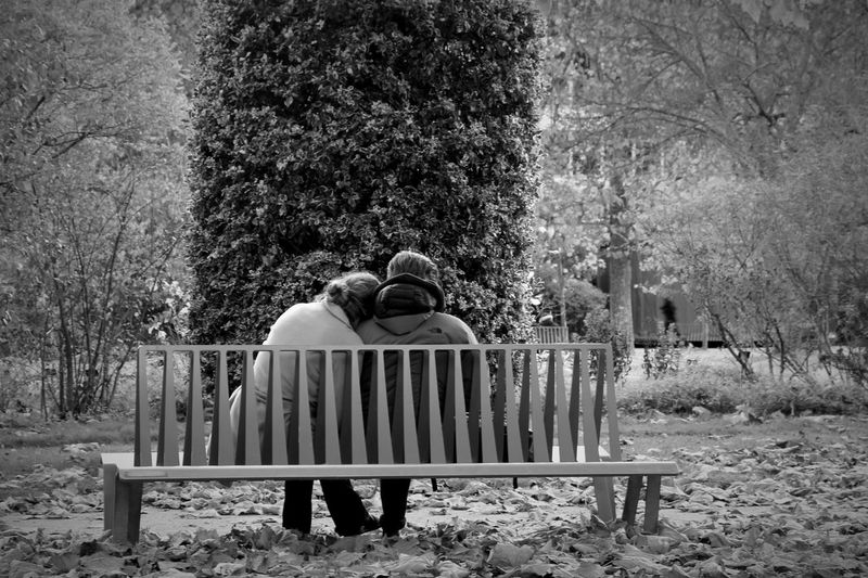 Couple at bench