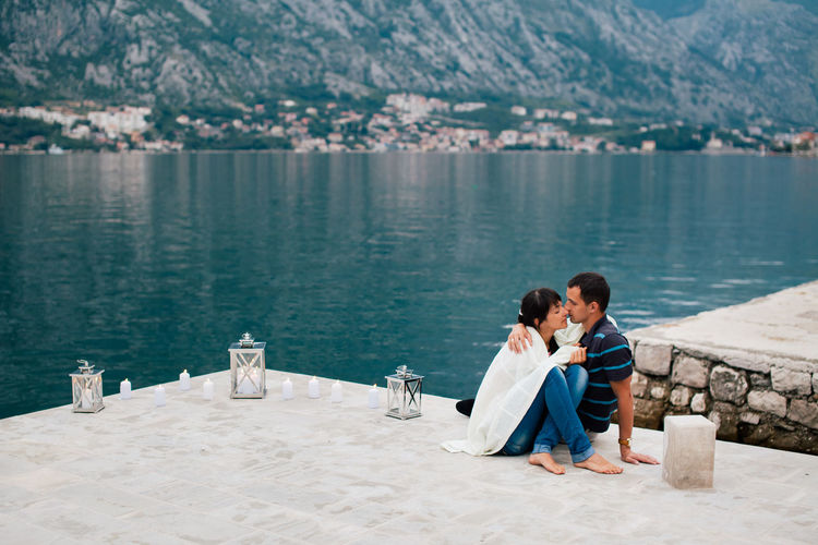 couple relax in romantic place. lovely couple travel on honeymoon. Montenegro Beautiful EyeEm Nature Lover Happiness Love Nature Romance Romantic Travel Bay Couple - Relationship Day Honeymoon Lake Leisure Activity Love ♥ Montenegro Mountain Nature Outdoors Picturesque Romantic Place Together Togetherness Two People Water