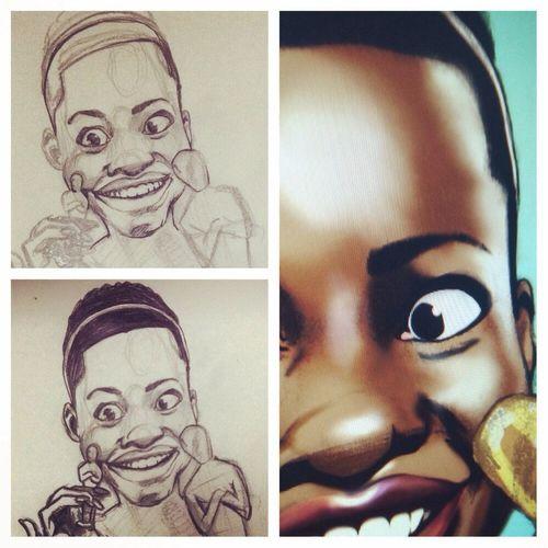 Drawing Lupita... Lupita Draw Photoshop