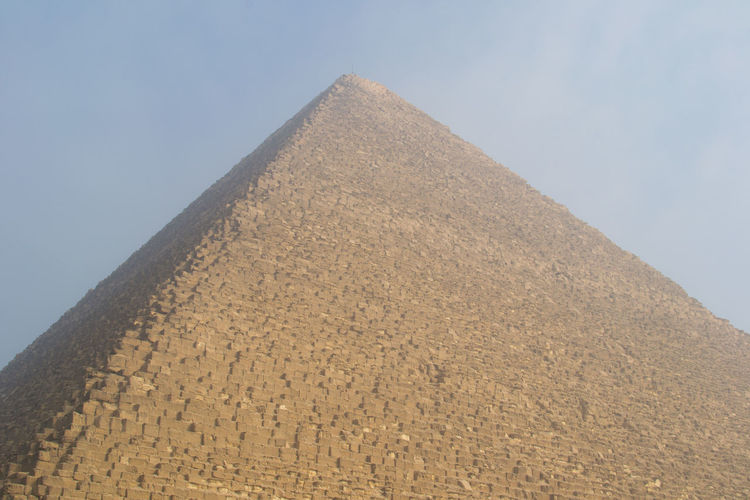 Low angle view of pyramid