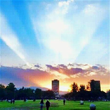 Ciudad universitaria... Atardecer Cu Mexico City UNAM