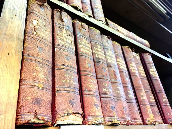 Antique books Indoors  Low Angle View No People Day Large Group Of Objects Close-up Architecture
