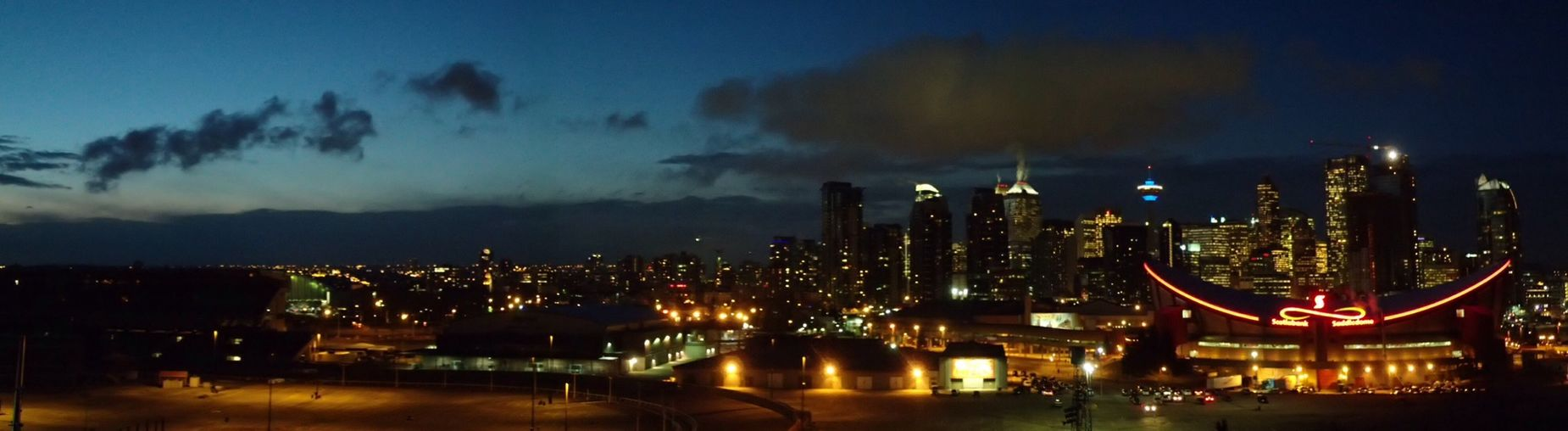 End of January. Streets Of Calgary The Purist (no Edit, No Filter) Nightphotography Panoramic Handheld