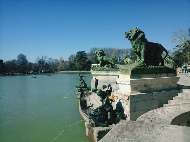 Madrid Spain Parque Del Retiro Water Lake Clear Sky Day Nature EyeEmNewHere