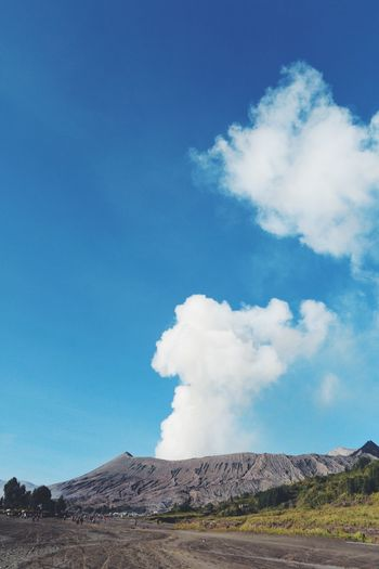 Active Volcano Beauty In Nature Blue Cloud - Sky Day Erupting Geology Hot Spring Landscape Mountain Nature No People Outdoors Physical Geography Power In Nature Scenics Sky Smoke - Physical Structure Steam Tranquility Travel Destinations Volcanic Crater Volcanic Landscape Volcano