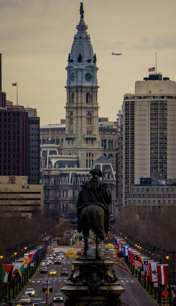 Photography City Government Architecture Travel Destinations Dome Politics And Government Building Exterior Built Structure Politics Clock Clock Tower Day Philly Architecture City Modern Sky Plane People Adults Only Outdoors Cityscape Adult EyeEmNewHere