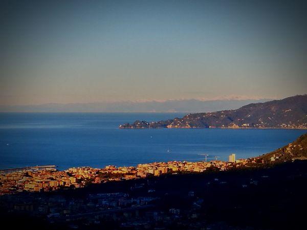 Chiavari, Italy Sea And Mountain Sea Panorama Città Di Mare