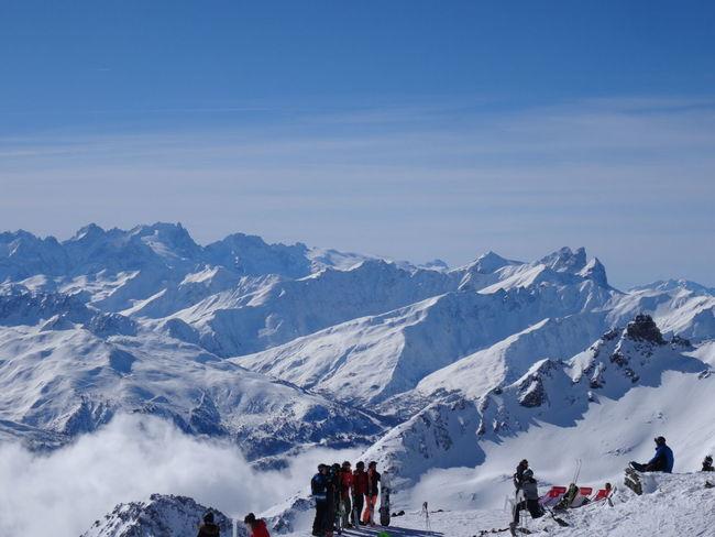 view Rest Scenics Skiing Le Mont Blanc Meribel Winter Les3vallées ValThorens  France🇫🇷 Mountain Leisure Activity Winter Sport Travel Destinations Mountain Range Landscape Adventure People Outdoors Nature Sport