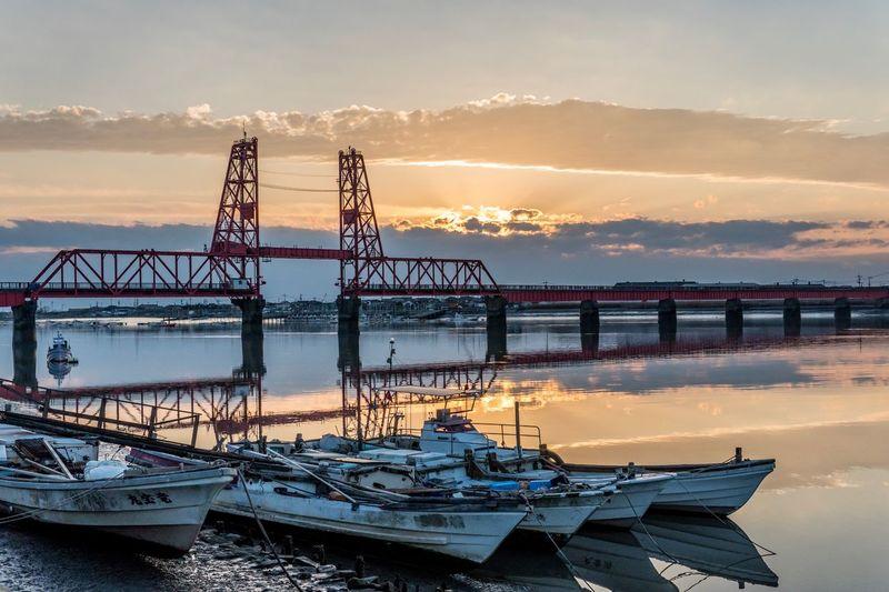 Sunset Bridge Mirror Reflection Sky River EyeEm Best Shots #sunset #bridge