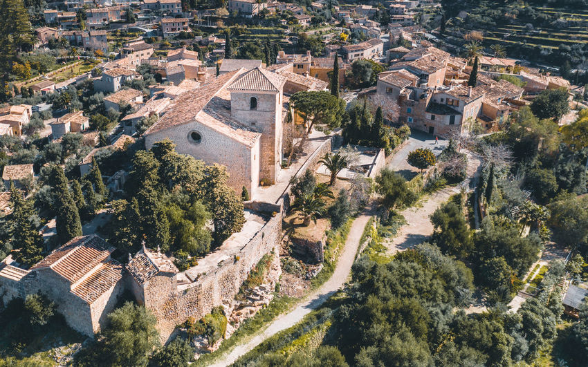 Old town Deià in Mallorca, Spain Architecture Built Structure High Angle View Building City Nature Day History Travel Destinations House Tourism Outdoors Old TOWNSCAPE Old City Cityscape Ancient Church Church Architecture Landscape Traveling Travel Photography Travel Tourism Destination Tourist Destination