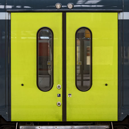 green doors Day Green Doors Hamburg Central Station No People Outdoors Protection Train Train Station
