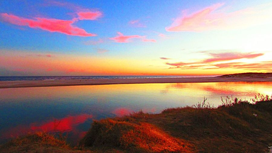 Confluence Sunset Horizon Over Water No People Tranquil Scene Beauty In Nature Day Calm Water EyeEmNewHere