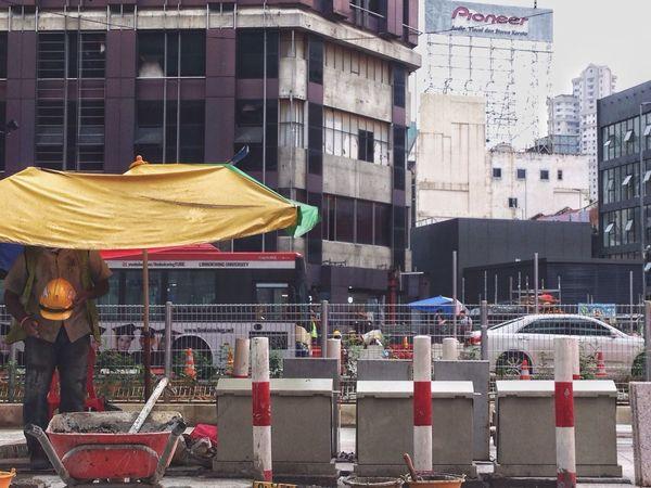 City Street Outdoors Real People Men Day Work Under Construction... Kuala Lumpur EyeEmNewHere EyeEmNewHere