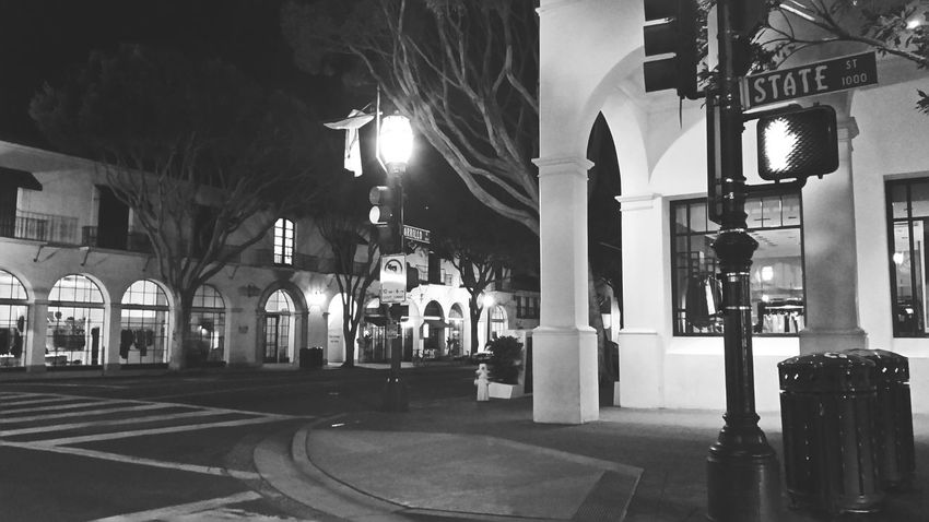 State Street Santa Barbara Streetphotography Street Photography Black And White Photography Blackandwhite EyeEm Best Shots - Black + White Lonely Night Lonely Wanderer Outdoors Photograpghy  Out And About Risky Business Risky Journey Not Scared Of The Dark Are You? I Walk Alone  Night Photography Slow Night Walking Around The City  City Street City At Night Blackandwhite Photography i walk where men fear to go because i am never alone and i carry a big stick