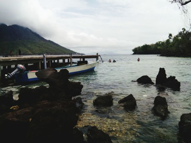One of the most beautiful beach in my hometown. Jikomalamo Ternate Island, Molucca INDONESIA