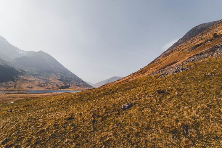 Glen Coe - Scotland Mountain Beauty In Nature Sky Scenics - Nature Environment Landscape Tranquil Scene Tranquility Non-urban Scene Nature No People Day Mountain Range Land Idyllic Outdoors Remote Cloud - Sky Desert Mountain Peak