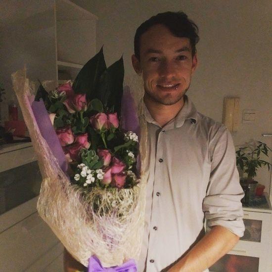 Threeyears Anniversary Boyfriend Flowers Surprise Handsome Butterfliesinmytummy