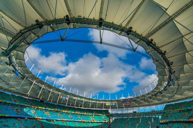 Arena Fonte Nova Architecture Arena Fonte Nova Bahia Brazil Building Exterior Built Structure City Cloud Cloud - Sky Cloudy Cobertura Design Engineering Low Angle View Modern Salvador Sky Soccer Stadium