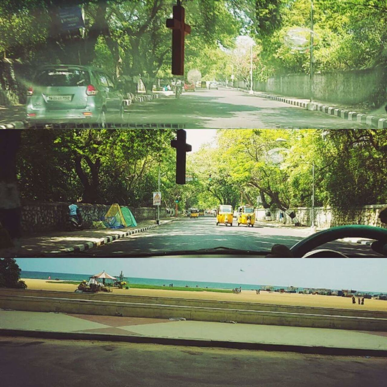 car, tree, transportation, road, street, land vehicle, outdoors, no people, day, bridge - man made structure, nature, growth, city, architecture, water