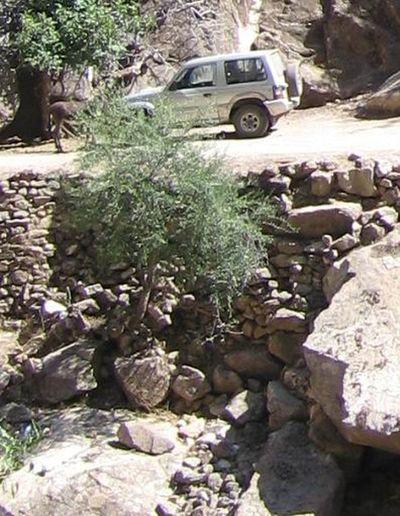 Maroc Août 2006. , Piste montagneuse près de Tarmilate... 4x4 Vehicle Djebel MoroccoTrip Oued Pajero Mitsubishi Tarmilate (Maroc)