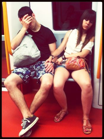 Sleep with me Don't Be Square Subway Portraits