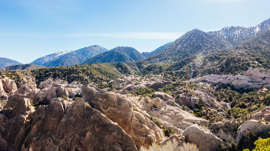 Scenic View Of Tree Mountains At Angeles National Forest