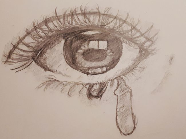 Sad :( Cry Eye Beauty Drawing ✏