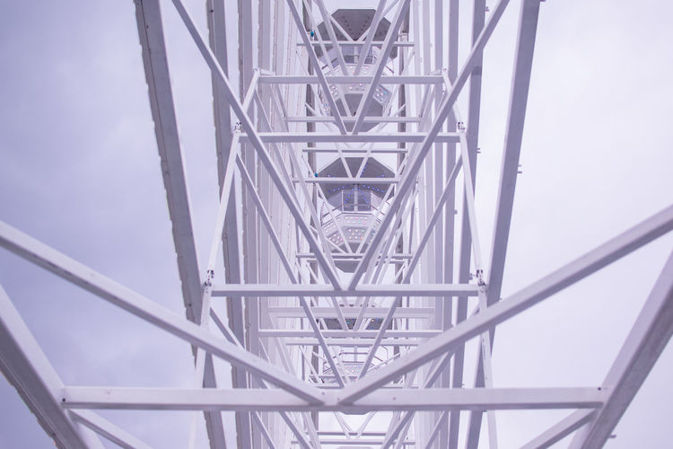 Ferris Wheel Tineretului Park Architecture Built Structure Connection Day Low Angle View Metal Outdoors Sky Stories From The City Go Higher
