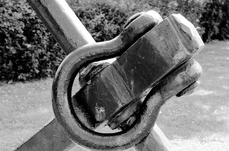Close-up Metal Focus On Foreground Outdoors Weathered Tranquility No People Geometric Shape Wrought Iron Chrome Curve Detail Detail Of Old Fishing Boat Anchor Black And White Black & White The Magic Mission