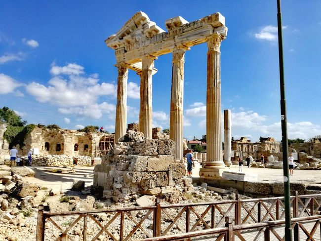 Old Ruin History Ancient Architecture Built Structure The Past Travel Destinations Sky Archaeology Architectural Column Ancient Civilization Outdoors Monument Cloud - Sky Day No People Nature Turkey Turkish Riviera Side Turkey Archeological Treasure Archeological Area Architecture Mediterranean Landscape Turkey♥