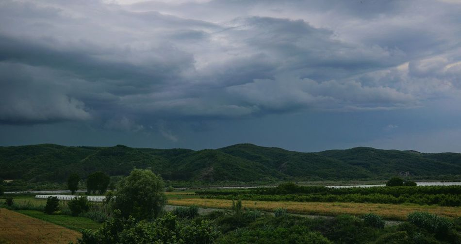 The Great Outdoors Rainy Day Nature EyeEm Nature Lover EyeEm Best Shots Freshness Relaxing View Open Edit Tree Mountain Storm Cloud Rural Scene Agriculture Field Dramatic Sky Sky Landscape