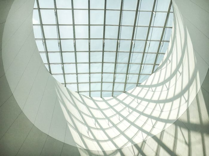 Modern Architecture Built Structure Indoors  Architectural Feature Pattern Curve No People Low Angle View