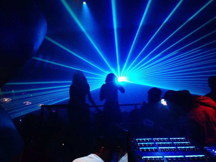 zoukkl Blue Technology Event Laser Real People Indoors  Performance Large Group Of People Men Stage Light Crowd Human Hand Human Body Part People First Eyeem Photo