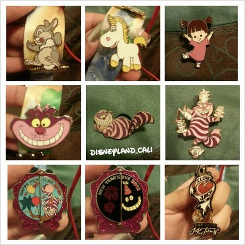 You guys have been asking me what my favorite pins are?.so here are my favorite Disneyland pins lol :)! .Disneyland Disneylandpins Pintrader Pincollector