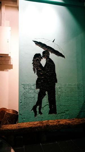 Couple Black Love ♥ Wall Wall - Building Feature Bridge Bridge Wall Umbrella First Eyeem Photo
