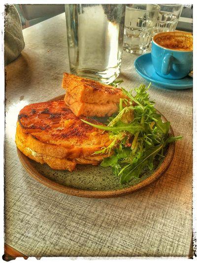 My World Of Food Borough Fried Cheese Sandwhich Brunch Manchester United Kingdom