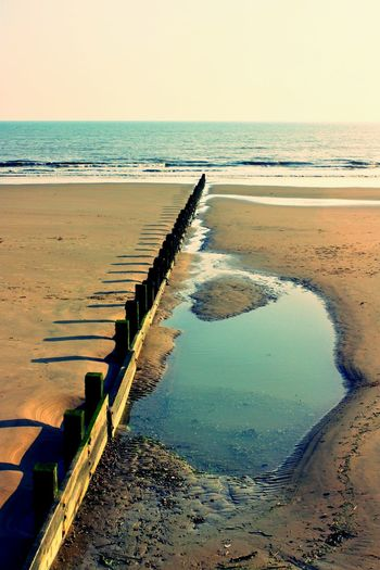 Sand shadows #2 Dymchurch Beach EyeEm Selects EyeEm Best Shots Reflections In The Water Pool Breakwater Sea Defences Beach Sea Water Horizon Over Water Sand Shore Tranquil Scene Tranquility Beauty In Nature Nature Scenics Outdoors Day Clear Sky No People Sky