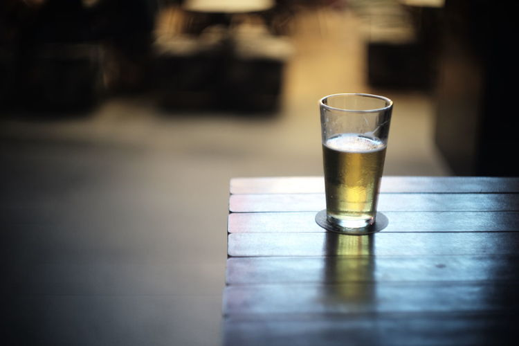 glass bokeh Beer Time Bokeh Close-up Drink Drinking Glass Focus On Foreground Food And Drink Indoors  Table Tables