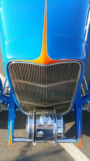 Ford Roadster Hot Rod Auto Automobile b Blue Chrome