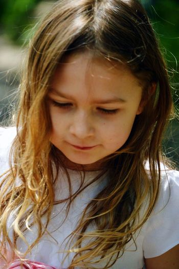 Childhood One Person Front View Girls Real People Close-up Outdoors Day Young Adult