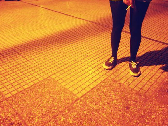 Girl Smoking Legs Cigarret Girl Park