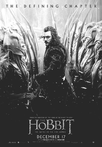 The Hobbit: The battle of five armies poster (making edits for mum) Photo Editing :-P