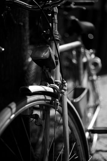 Close-Up Of Bicycle Parked Outdoors