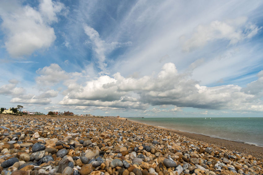 Walimex 12mm Beach Beauty In Nature Cloud - Sky Day Horizon Over Water Nature No People Outdoors Pebble Pebble Beach Scenics Sea Sky Tranquil Scene Tranquility Water